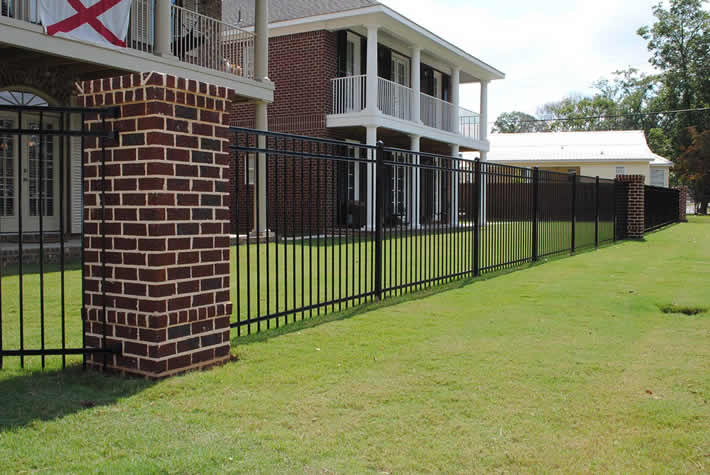 Residential Ornamental Fences Birmingham Al Allsteel Fence