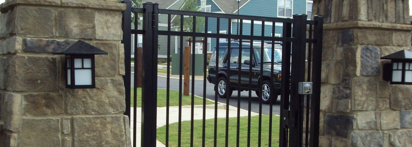 Metal fence Contemporary Metal Fencing Supplies In Birmingham Al Carpenter Fence Metal Fence Company Birmingham Al Allsteel